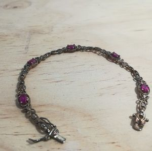 Vintage sterling silver filigree style bracelet